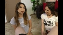Riley Reid Shows Sister How to Give Handjob