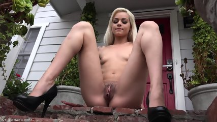 Teenie masturbates outdoors Elsa Jean sex video